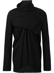 Rick Owens Wrap Effect Shirt Black