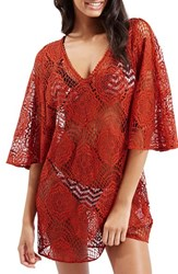 Women's Topshop 'Angel Wing' Lace Cover Up Caftan
