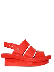 Melissa 60Mm Pvc Slingback Wedge Sandals Red
