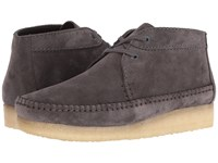 Clarks Weaver Boot Charcoal Suede Men's Boots Gray