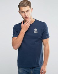 Franklin And Marshall Crest Logo T Shirt Navy