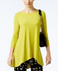 Alfani Jersey High Low Tunic Only At Macy's Luxe Lime