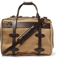 Filson Pullman Leather Trimmed Twill Holdall Tan