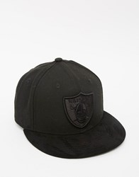 New Era 59Fifty Oakland Raiders Poly Tone Fitted Cap Black