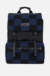 Ami Alexandre Mattiussi Checked Backpack Blue
