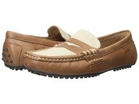 Polo Ralph Lauren Wes Ii Polo Tan Natural Burnished Leather Flax Linen Men's Shoes Beige