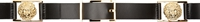 Versus Black Leather Fixed Anthony Vaccarello Edition Belt