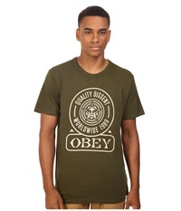 Obey Quality Dissent Army Men's T Shirt Green