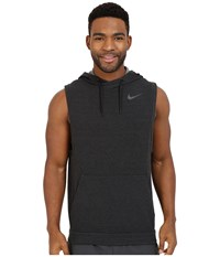 Nike Fleece Pullover Sleeveless Training Hoodie Black Black Men's Clothing
