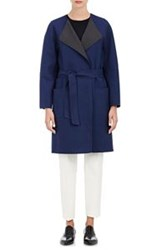 Tomorrowland Twill Wrap Coat Blue Size 40 It