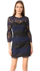 Cynthia Rowley Bell Lace Dress Black Navy