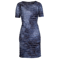 Betty Barclay Wave Effect Dress Grey Blue