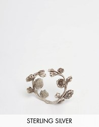 Regal Rose Wild Eve Sterling Silver Plated Rose Wrap Ring Silver