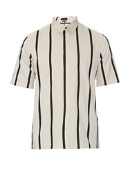 Rag And Bone Exeter Striped Cotton Poplin Shirt Multi