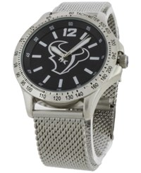 Game Time Houston Texans Cage Series Watch Silver Black