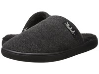 Woolrich Chatham Camp Charcoal Fleece Men's Slippers Black