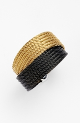 Alor Cable Wrap Ring Black Yellow