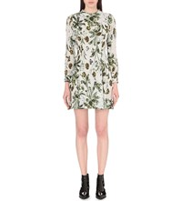 Whistles Marina Floral Print Silk Dress Multi Coloured