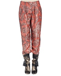Lanvin Metallic Print Pajama Pants Fire Red