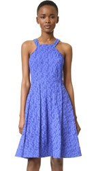 Prabal Gurung Fit And Flare Dress Cobalt
