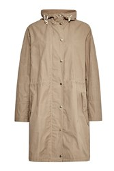 French Connection Harbour Hooded Parka Coat Brown
