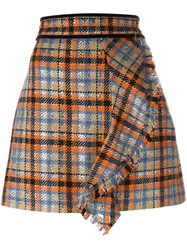 Msgm Checked Skirt Multicolour