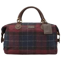 Barbour Tartan Exp Holdall Wine Navy