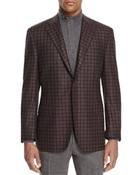 Canali Double Box Plaid Classic Fit Sport Coat Chocolate