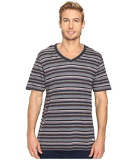 Tommy Bahama Yarn Dye Cotton Modal Jersey V Neck Tee Sail Striped Heather Multi Men's T Shirt