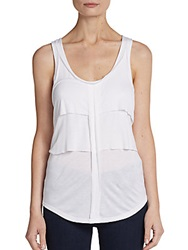 Marc By Marc Jacobs Beals Jersey Tank Top Wicken White