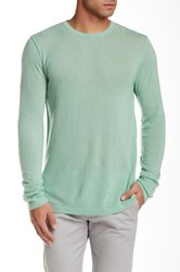 Autumn Cashmere Reverse Seam Cashmere Sweater Green