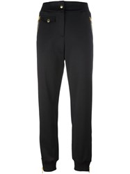 Moschino Zip Detail Track Pants Black