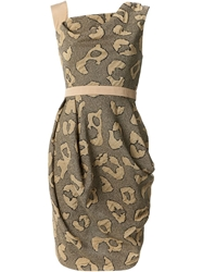 Vivienne Westwood Red Label Animal Print 'Dna' Dress Nude And Neutrals
