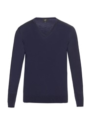 Dunhill V Neck Wool Knit Sweater