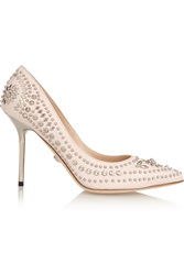 Versace Studded Leather Pumps Pink