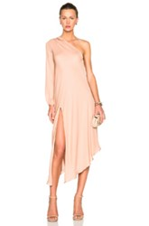 Mason By Michelle Mason X Fwrd Exclusive One Sleeve Caftan In Pink