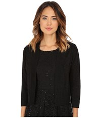 Rsvp Bre Shrug With Lurex Black Black Women's Sweater