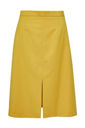 French Connection Brooke Suiting A Line Skirt Yellow
