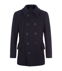 Tom Ford Wool Pea Coat Male Navy
