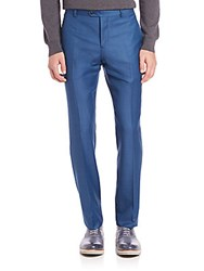 Melindagloss Tailored Wool Pants Prussian Blue