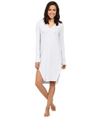 Yummie Tummie Waffle Knit Hooded Nightshirt Artic Ice Women's Clothing Blue