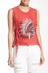 Gypsy Heart Headdress Skull Tank Red