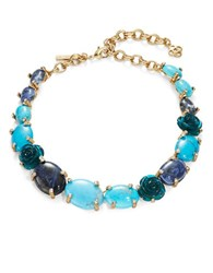 Oscar De La Renta Gemstone Statement Necklace Blue