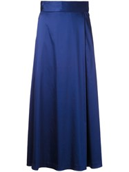 H Beauty And Youth. 'Tuck Maxi' Skirt Blue
