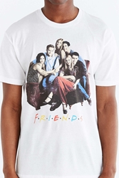 Urban Outfitters Friends Sofa Tee White