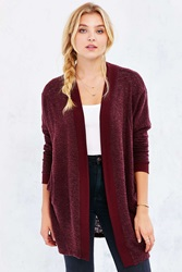 Silence And Noise Silence Noise Cozy Cardigan Maroon