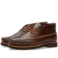 Oak Street Bootmakers Vibram Sole Trapper Boot Brown Chromexcel