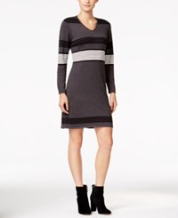 Ny Collection Petite Striped Sweater Dress Casie