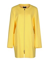 Diana Gallesi Coats And Jackets Full Length Jackets Women Yellow