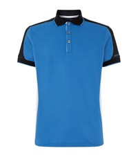 Galvin Green Moe Cotton Blend Polo Top Male Blue